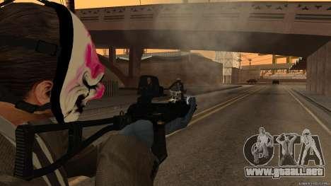 Como-VAL Payday 2 para GTA San Andreas tercera pantalla