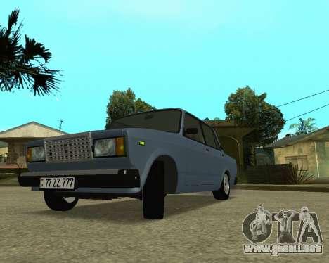 VAZ 2107 Armenian para GTA San Andreas left