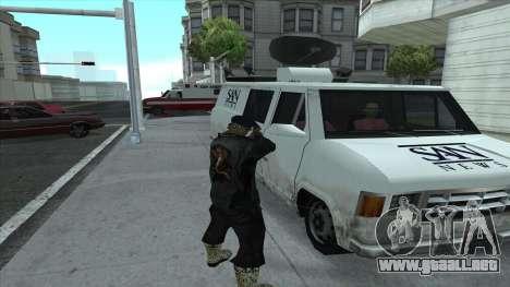Newsvan Follow You para GTA San Andreas sucesivamente de pantalla