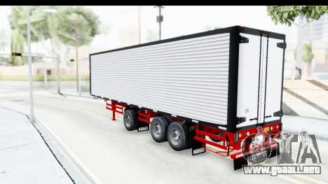 Trailer with Axle para GTA San Andreas vista posterior izquierda