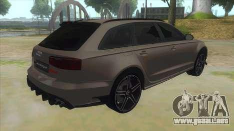 Audi RS6-R para la visión correcta GTA San Andreas