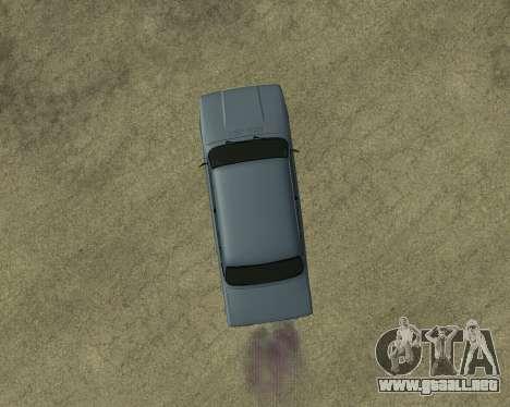 VAZ 2107 Armenian para la vista superior GTA San Andreas