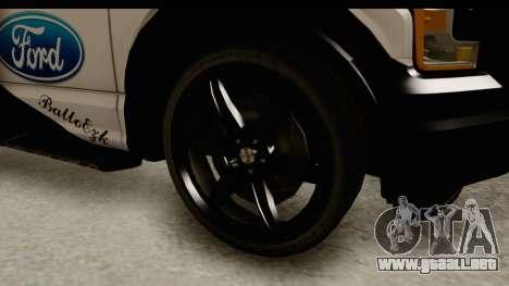 Ford F-150 Tuning para GTA San Andreas vista hacia atrás