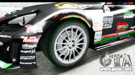 D1GP Toyota 86 2015 DRIVE para GTA San Andreas vista hacia atrás