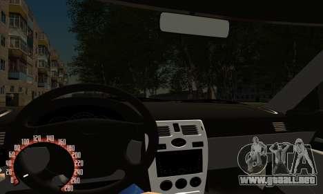 Lada Priora para GTA San Andreas interior