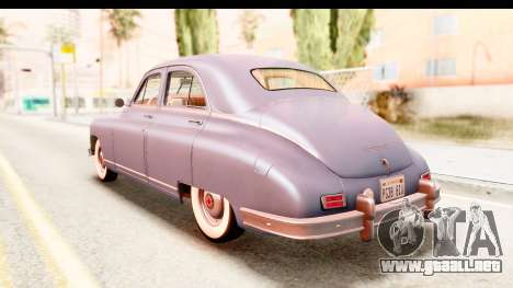 Packard Standart Eight 1948 Touring Sedan para GTA San Andreas vista posterior izquierda