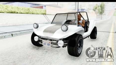 GTA 5 BF Bifta v2 SA Style para GTA San Andreas vista hacia atrás