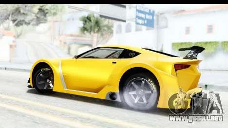 GTA 5 Emperor ETR1 v2 SA Lights para GTA San Andreas left
