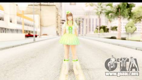 Dead Or Alive 5 - Hitomi Pop Idol para GTA San Andreas segunda pantalla