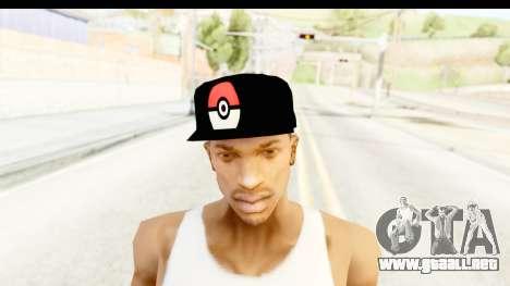 Cap Pokemon Pokeball para GTA San Andreas tercera pantalla