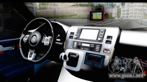 Volkswagen Caravelle para visión interna GTA San Andreas