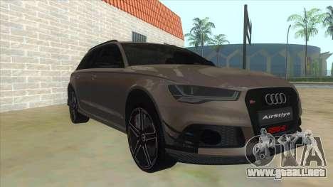 Audi RS6-R para GTA San Andreas vista hacia atrás