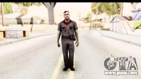 Left 4 Dead 2 - Zombie Policeman para GTA San Andreas segunda pantalla