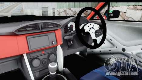 D1GP Toyota 86 2015 DRIVE para visión interna GTA San Andreas