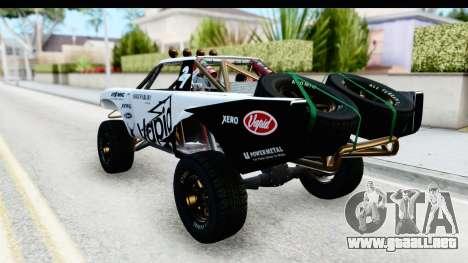 GTA 5 Trophy Truck SA Lights PJ para GTA San Andreas interior
