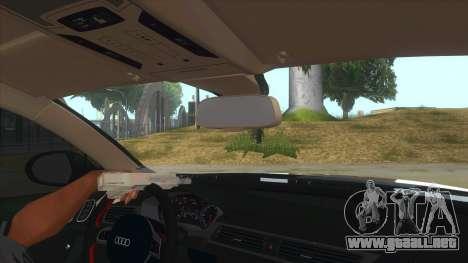 Audi RS6-R para visión interna GTA San Andreas