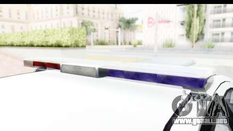 Sri Lanka Police Car v2 para visión interna GTA San Andreas