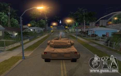 El efecto de disparo de tanque para GTA San Andreas