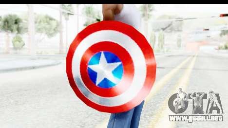 Capitan America Shield Classic para GTA San Andreas tercera pantalla