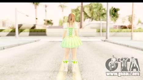 Dead Or Alive 5 - Hitomi Pop Idol para GTA San Andreas tercera pantalla
