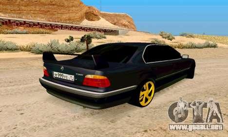 BMW 730 para GTA San Andreas vista posterior izquierda