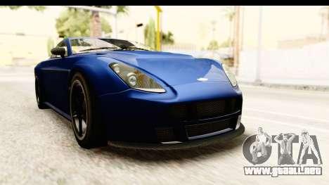 GTA 5 Dewbauchee Rapid GT para la visión correcta GTA San Andreas