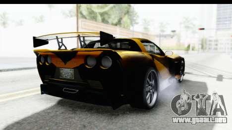 NFS Carbon Chevrolet Corvette para la visión correcta GTA San Andreas