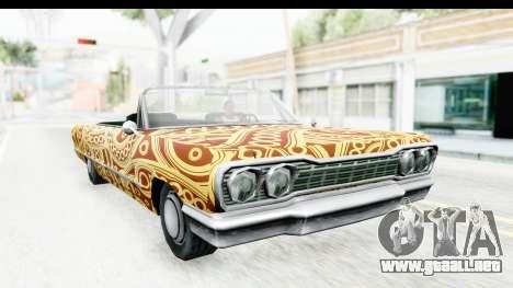 Savanna New PJ para GTA San Andreas vista hacia atrás
