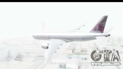 Boeing 777-200LR Qatar Airways para la visión correcta GTA San Andreas