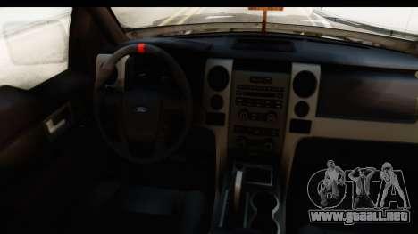 Ford F-150 Federal Police para visión interna GTA San Andreas