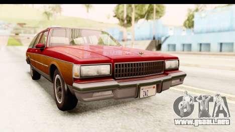 Chevrolet Caprice 1989 Station Wagon IVF para la visión correcta GTA San Andreas