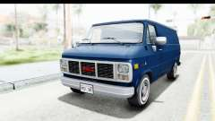 GMC Vandura 1985 White Stripes HQLM para GTA San Andreas