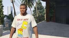 Bart Simpson T-Shirt for GTA V para GTA 5