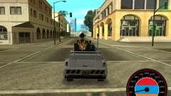 El velocímetro en el estilo de la bandera de armenia V 2.0 para GTA San Andreas