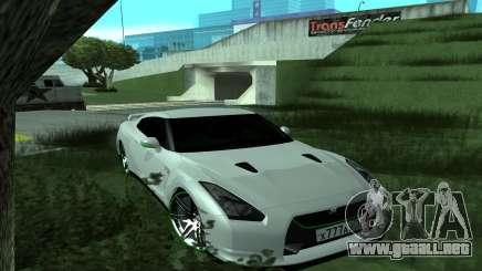 Nissan GT-R R35 Green Screen para GTA San Andreas