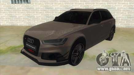 Audi RS6-R para GTA San Andreas