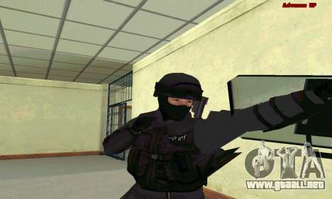 La piel de SWAT GTA 5 para GTA San Andreas tercera pantalla