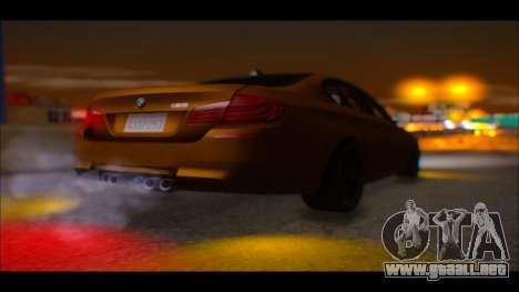 BMW M5 F10 2014 para GTA San Andreas vista hacia atrás
