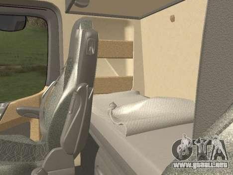 Mercedes-Benz Actros Mp4 6x4 v2.0 Steamspace para visión interna GTA San Andreas