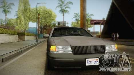 Willard Elegant SA Style para vista lateral GTA San Andreas