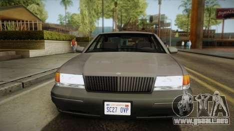 Willard Elegant SA Style para GTA San Andreas vista posterior izquierda