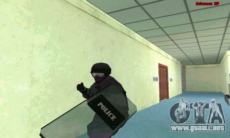 La piel de SWAT GTA 5 (PS3) para GTA San Andreas segunda pantalla