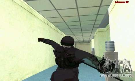 La piel de SWAT GTA 5 (PS3) para GTA San Andreas octavo de pantalla