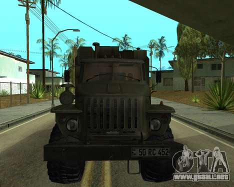 Ural 4320 Armenian para GTA San Andreas left