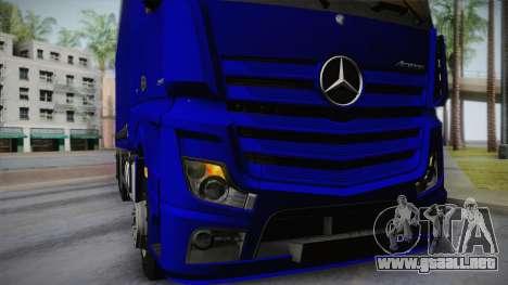 Mercedes-Benz Actros Mp4 v2.0 Tandem Steam para visión interna GTA San Andreas