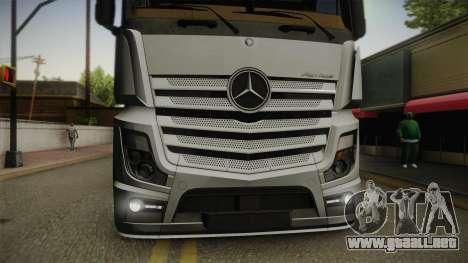 Mercedes-Benz Actros Mp4 6x4 v2.0 Steamspace v2 para la visión correcta GTA San Andreas