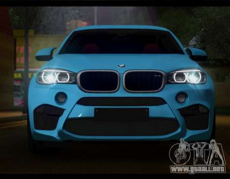BMW X6M F86 para GTA San Andreas vista posterior izquierda