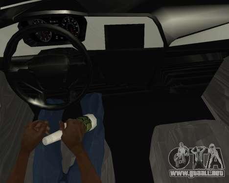 Hyundai Sonata Armenian para GTA San Andreas vista hacia atrás