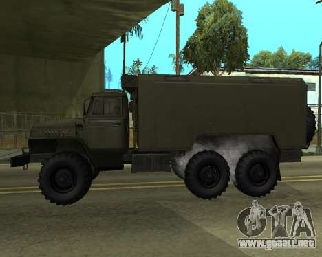 Ural 4320 Armenian para GTA San Andreas vista posterior izquierda