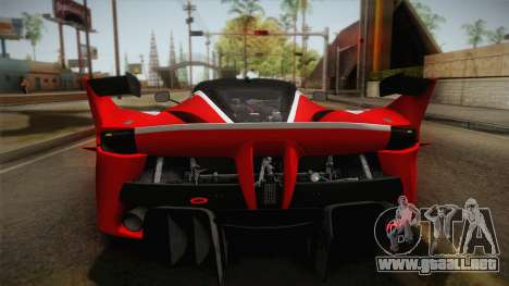 Ferrari FXX-K 2015 PJ para la visión correcta GTA San Andreas